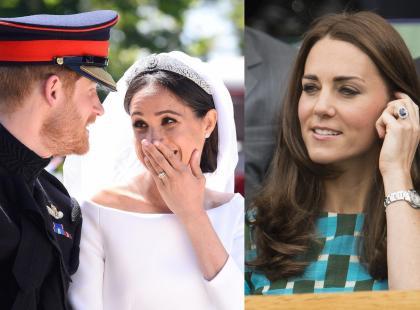 Pierścionek zaręczynowy księżnej Kate miał trafić do Meghan Markle?! Skomplikowania historia biżuterii zaręczynowej księżnej Diany