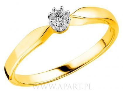 Pierścionki zaręczynowe Apart z żółtego złota