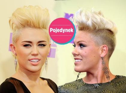 Pink i Cyrus w identycznych fryzurach!