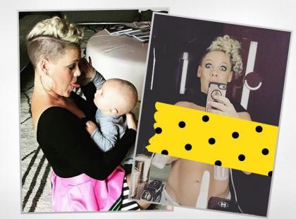 Pink z laktatorem zapozowała na Instagramie. Czy któraś z polskich gwiazd odważyłaby się na takie selfie?