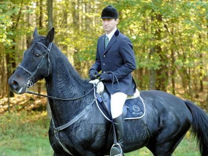 Piotr Kraśko z żoną na koniach