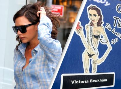 """""""Pizza cienka jak Victoria Beckham"""". Oburzająca reklama nie wstrząsnęła internautami. Z chudzielców wolno się naśmiewać?"""