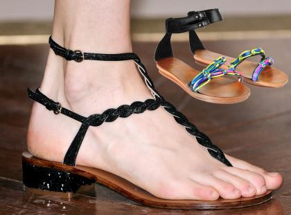 Płaskie buty na lato 2012