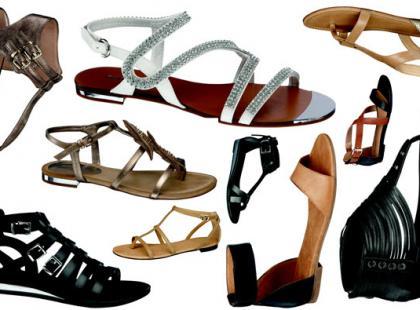 Płaskie sandały damskie Deichmann lato