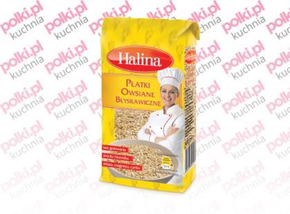 Płatki owsiane błyskawiczne marki Halina