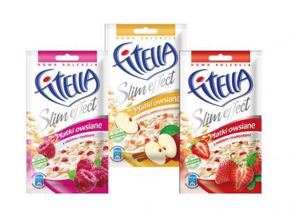 Płatki owsiane Fitella z mlekiem i owocami