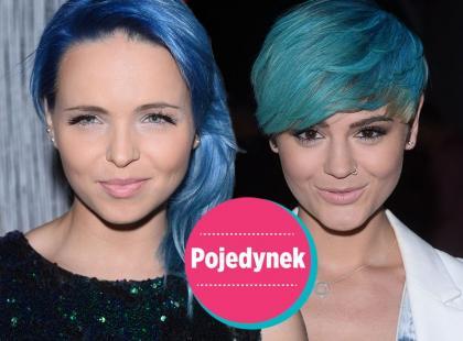 Pojedynek - która gwiazda wygląda lepiej w niebieskich włosach?