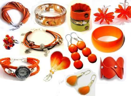 Pomarańczowa biżuteria hand-made