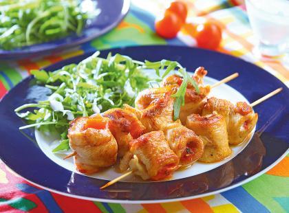 Pomidorowe szaszłyki z kurczaka