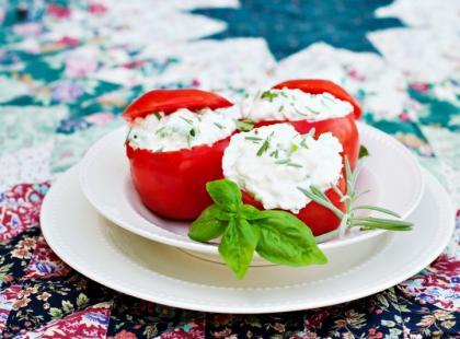 Pomidory faszerowane kurkami