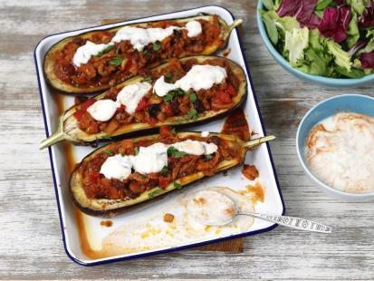 Pomysł na obiad – bakłażany faszerowane mielonym mięsem