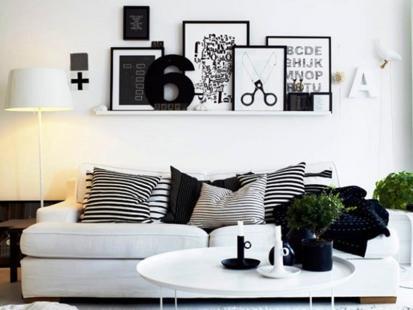 Pomysły na czarno-białe minimalistyczne wnętrze