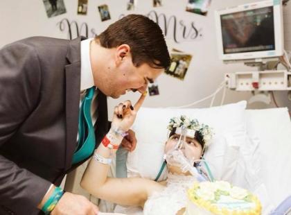 Poślubiła swojego chłopaka leżąc w szpitalnym łóżku. Zmarła trzy dni później