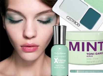 Postaw na kolor! Kosmetyki w kolorze chłodnej mięty na lato 2014