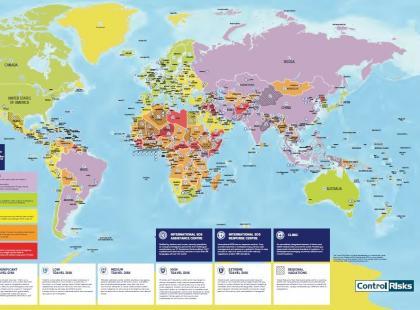 Powstała mapa obrazująca aktualne zagrożenia zdrowotne na świecie. Które kraje są najbardziej niebezpieczne?