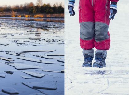 Prawie utonęli w zamarzniętym stawie, bo robili sobie selfie. Lód pękł, a dzieci znalazły się w lodowatej wodzie!