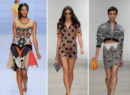 Printy, czyli łączenie wzorów - trendy 2012