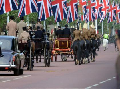 Próba przejazdu Młodej Pary Królewskiej ulicami Londynu