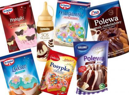 Produkty do dekoracji wielkanocnych ciast