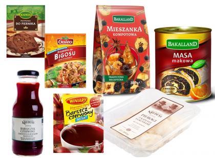 Produkty do wigilijnych potraw