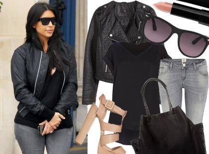 Prosty look w stylu Kim Kardashian