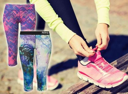 Przegląd 31 modeli wzorzystych legginsów do ćwiczeń