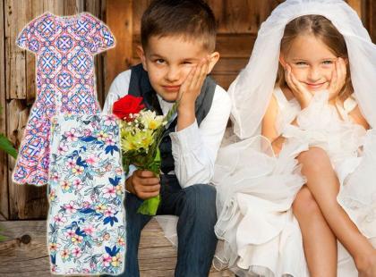 Przegląd 35 najmodniejszych sukienek weselnych dla dziewczynek