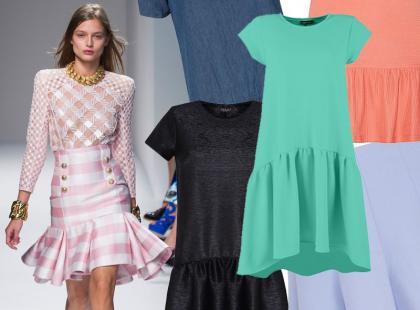 Przegląd dziewczęcych sukienek i spódnic z falbanką