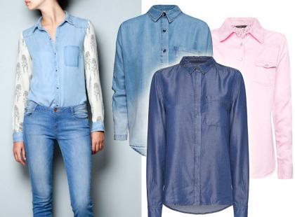 Przegląd dżinsowych koszul na jesień 2012
