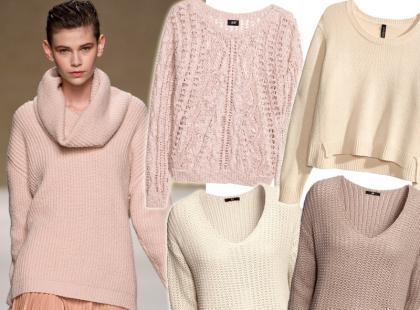 Przegląd jasnych sweterków na chłodne dni