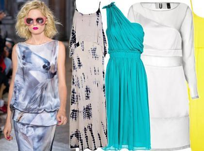 Przegląd jedwabnych sukienek na lato 2013