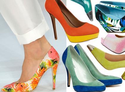 Przegląd kolorowych butów na wiosnę 2013