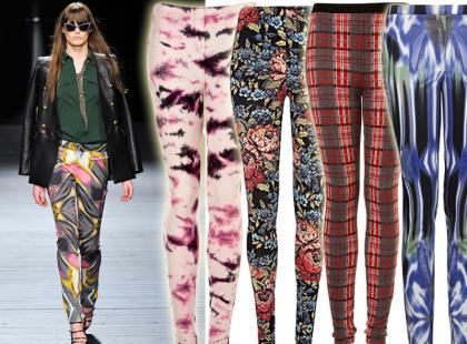 Przegląd kolorowych legginsów na jesień 2012