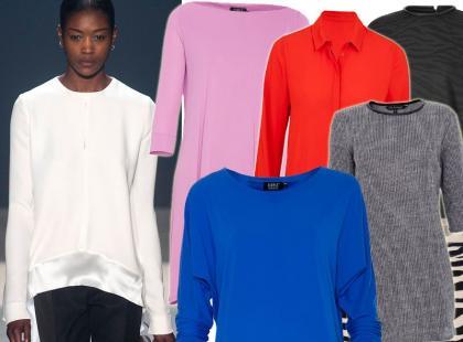 Przegląd modnych bluzek i tunik do legginsów
