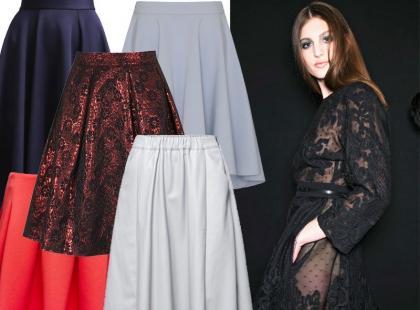 Przegląd rozkloszowanych spódnic z najnowszych kolekcji