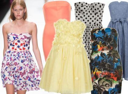 Przegląd sukienek typu bandeau