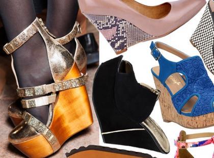 Przegląd wiosennych butów na koturnie