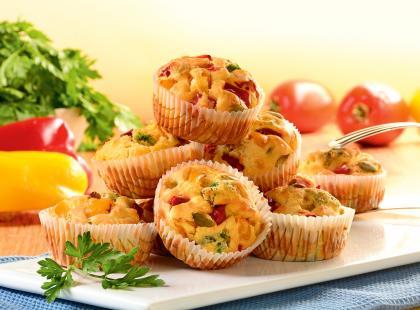 Przekąska na imprezę: pikantne muffiny