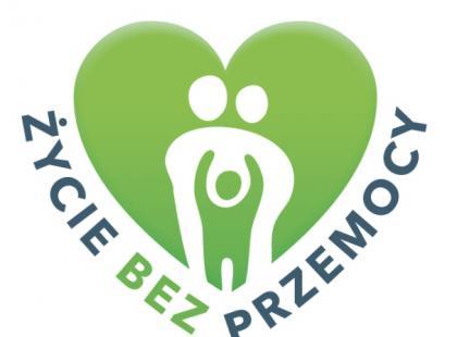 """Logo kampanii """"Życie bez przemocy""""/ Materiały Prasowe"""