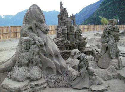 Przepiękne rzeźby w piasku