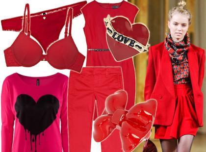 Przygotowania do Walentynek: seksowna czerwień