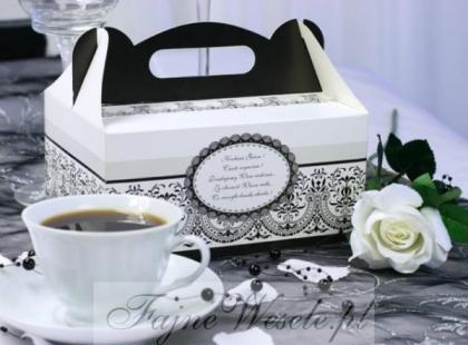 Pudełko na ciasto lub tort weselny