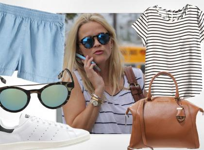 Reese Witherspoon i jej casualowy look na lato