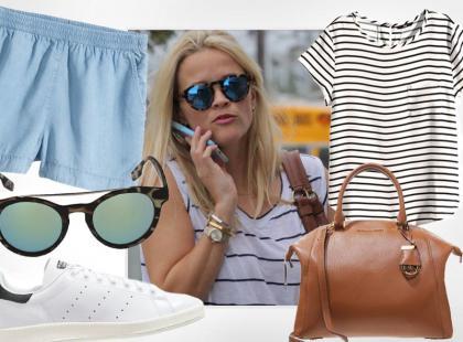 Reese Witherspoon i jej casualowy look na lato