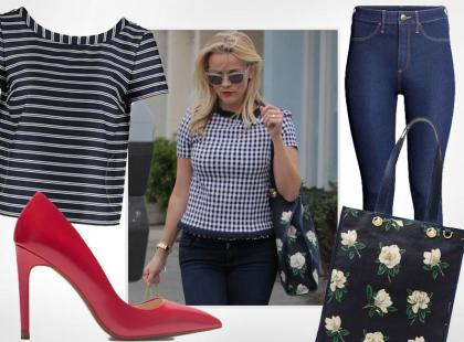 Reese Witherspoon stawia na smart casual