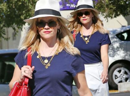 Reese Witherspoon w drodze na biznesowe spotkanie