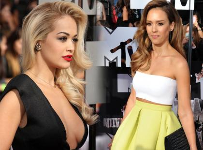 Rita Ora i Jessica Alba najpiękniejsze na MTV Movie Awards 2014