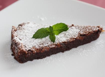 Prawdziw ciasto czekoladowe nie zawiera mąki.