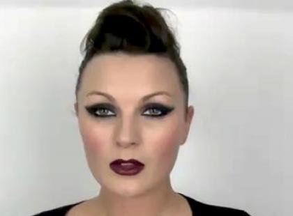 Rock chic make-up