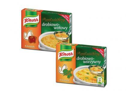 Rosół szlachetny Knorr: drobiowo-wołowy lub drobiowo-warzywny